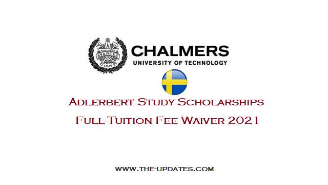 Adlerbert Study Scholarships at Chalmers University of Technology Sweden