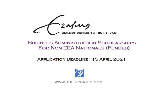 Excellence IBA Scholarships at Erasmus University Netherlands