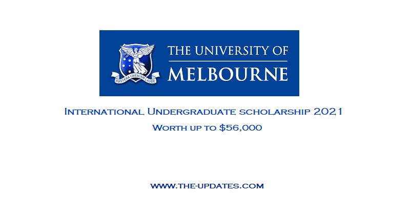 International Undergraduate Scholarship at the University of Melbourne