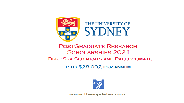 Postgraduate Research Scholarship at University of Sydney Australia