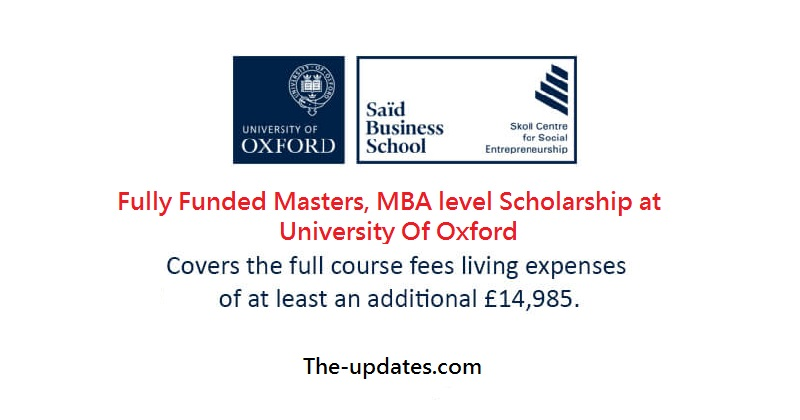 The Skoll Scholarships MBA - University Of Oxford