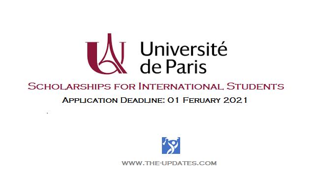 MIEM Excellence Scholarship at The Université de Paris France