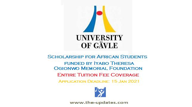 Scholarship for African Students at University of Gävle Sweden