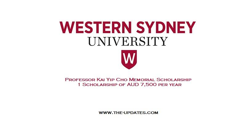 Professor Kai Yip Cho Memorial Doctoral Scholarship
