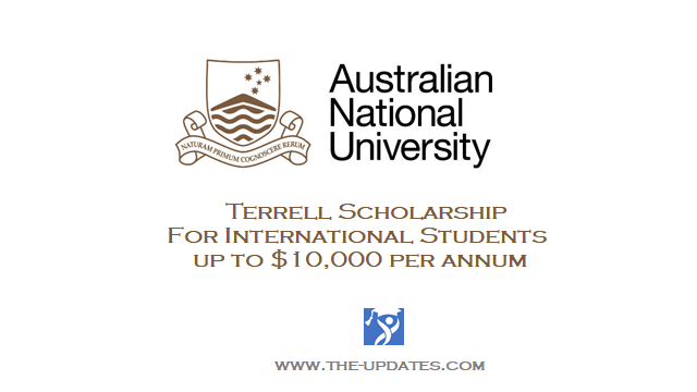 Terrell Scholarship at Australian National University College of Business & Economics