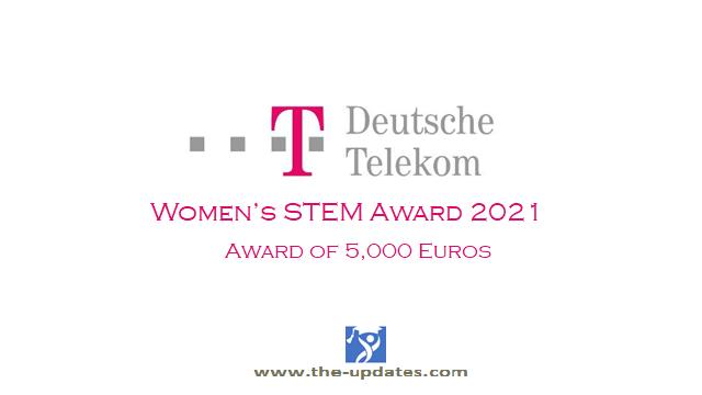 Deutsche Telekom Women's STEM Award Germany 2021