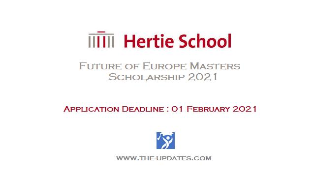Hertie School Future of Europe Masters Scholarship 2021