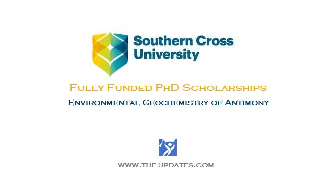 Environmental Geochemistry of Antimony PhD Scholarship