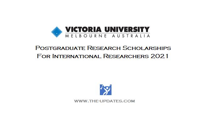 International Postgraduate Research Scholarships