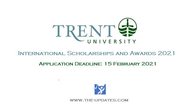 International Scholarships and Awards at Trent University Canada