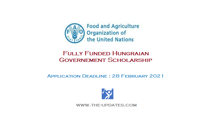 FAO-Hungarian Government Masters Scholarship Programme 2021-22