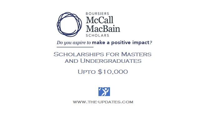 McCall MacBain Scholarships at McGill University Canada