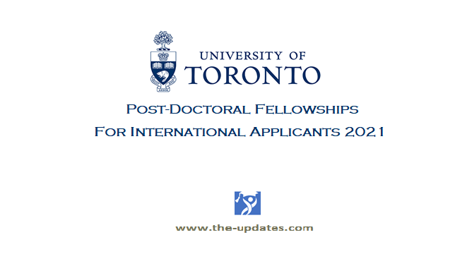 Provost's Postdoctoral Fellowship Program at University of Toronto 2021