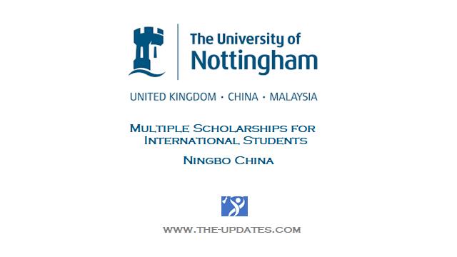 International UG Scholarship at University of Nottingham Ningbo China 2021