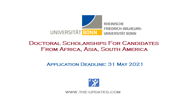 Argelander Scholarships for doctoral candidates at University of Bonn Germany 2021