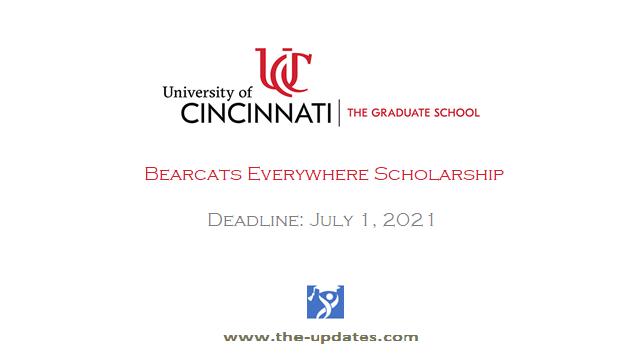 Bearcats Everywhere Scholarship at University of Cincinnati USA 2021
