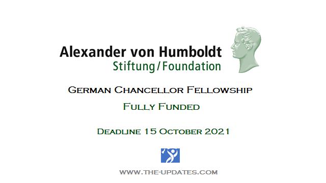German Chancellor Fellowship for Prospective Leaders 2021