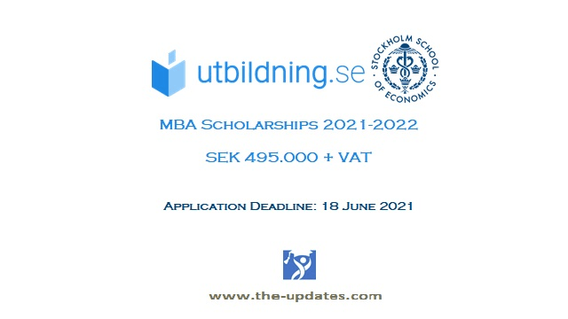 SSE and Dagens Industri MBA Scholarship Sweden 2021-22