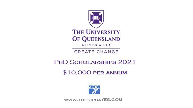 Entrepreneurial Scholar PhD Top-up Scholarship at University of Queensland