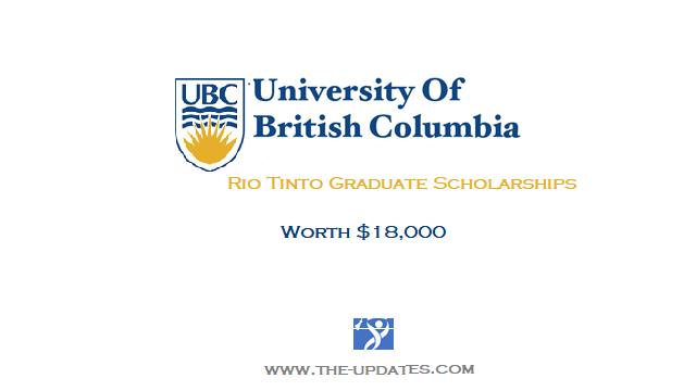 RIO TINTO Graduate Scholarship Program