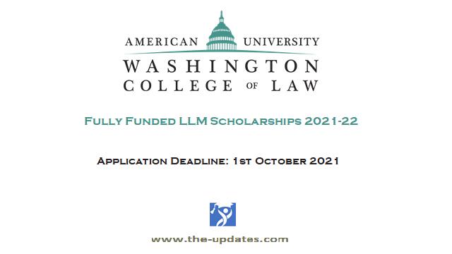 LLM Scholarships American University Washington college of law