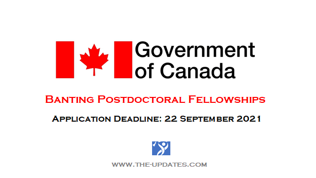 Banting Postdoctoral Fellowships Canada 2021-22