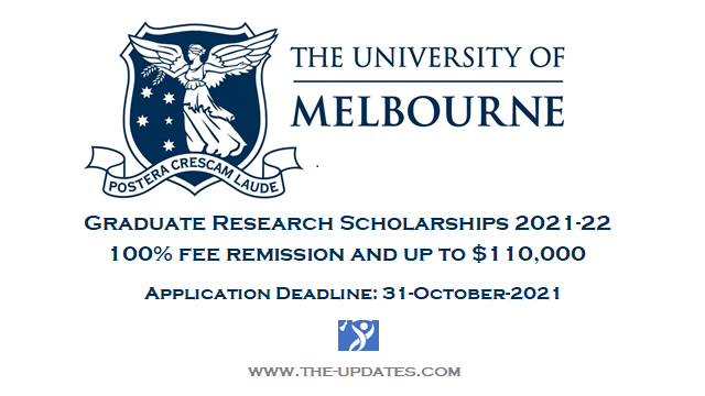 Graduate research scholarships university of melbourne 2021-22