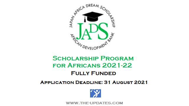 Japan Africa Dream Scholarships Program 2021-2022