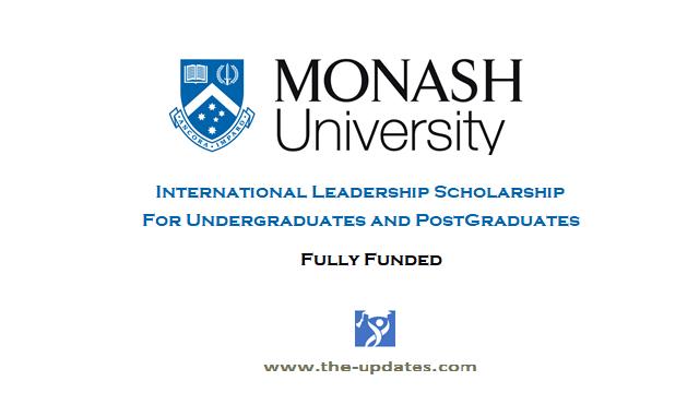 Monash International Leadership Scholarship Australia 2021-2022