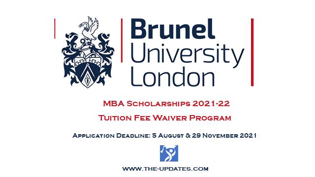 MBA Scholarships at Brunel University of London 2021-22