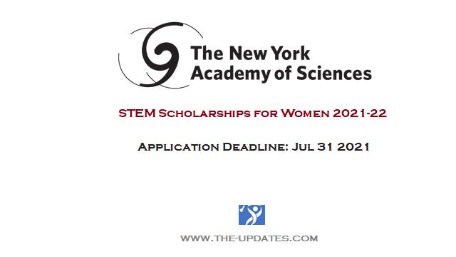 New York Academy of Sciences women scholarships