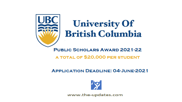 UBC Public Scholar Award