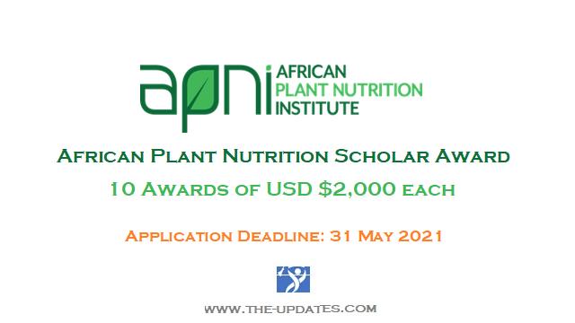 African Plant Nutrition Scholar Award