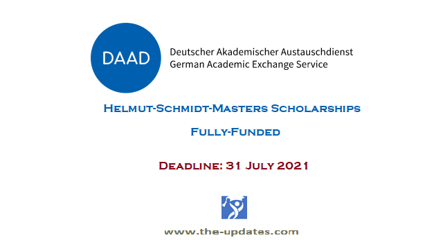 The DAAD Helmut-Schmidt-Masters Scholarships Programme in Germany 2022