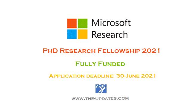Microsoft Research PhD Fellowships