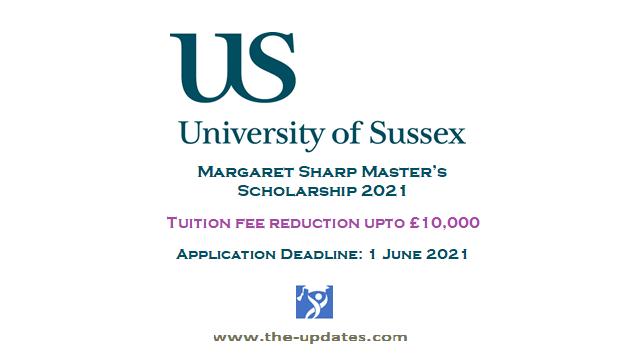 Margaret Sharp Master's Scholarship at University of Sussex