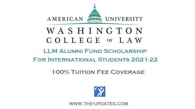 LLM Alumni Fund Scholarship AUWCL 2021-2022