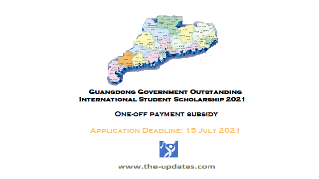 Guangdong Government Outstanding International Student Scholarship China 2021-2022