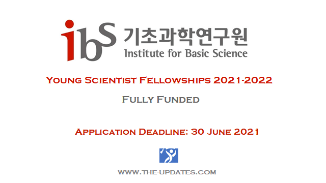 IBS Young Scientist Fellowships 2021-2022