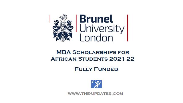 MBA Scholarship Brunel Business School London 2021-2022