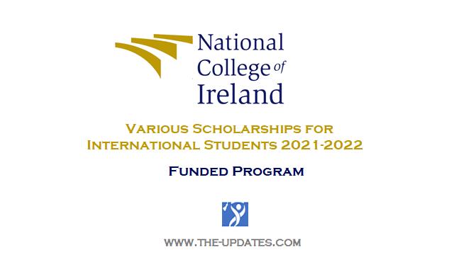 International Scholarships at National College of Ireland 2021-2022