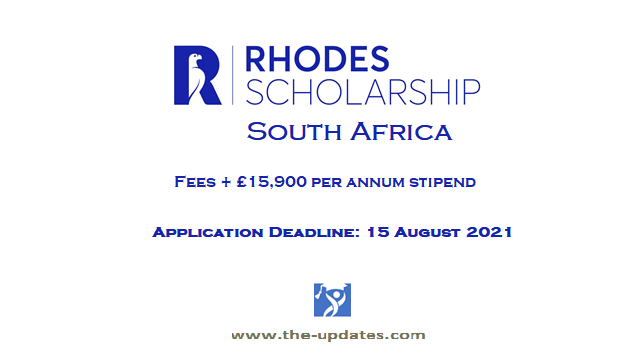 Rhodes scholarships for South Africans