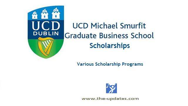 UCD Michael Smurfit Graduate Business School Scholarships 2021-2022