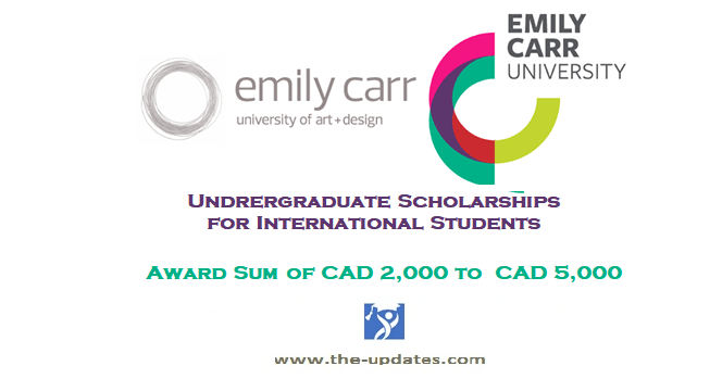 emily carr university of art and design scholarships 2021-2022