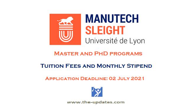 manutech sleight graduate scholarship 2021-2022