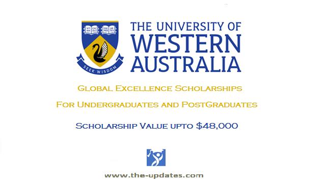 Global Excellence Scholarships University of Western Australia 2022
