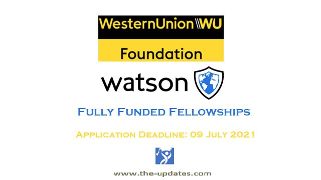 westernunion foundation fellowships 2021-2022