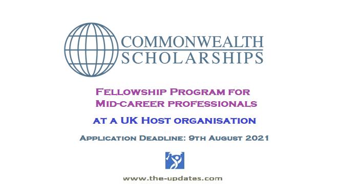 Commonwealth fellowship program UK 2021-2022