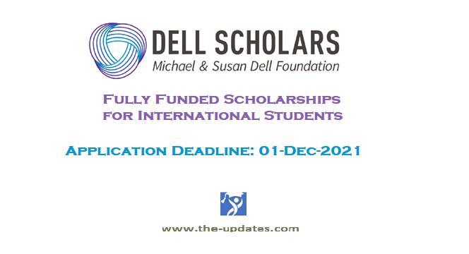 Dell Scholars Program 2021-2022 USA