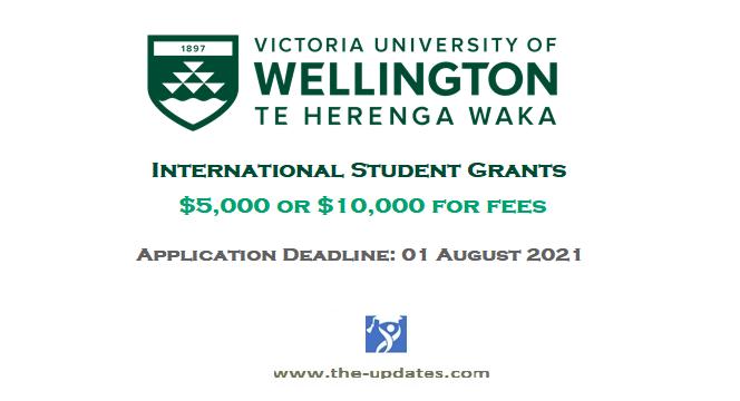 International Student Grant 2021-2022 Victoria University of Wellington